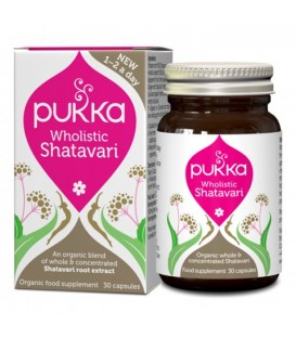 Wholistic Shatavari BIO – Dla Kobiet (30 kapsułek) suplement diety Pukka