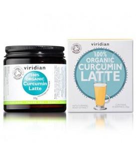 Organic Curcumin Latte (30 g) suplement diety Viridian