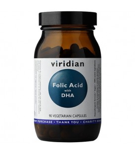 Kwas foliowy z DHA (90 kapsułek) suplement diety Viridian