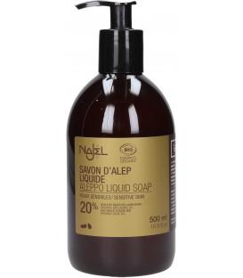 Mydło Aleppo 20% w płynie z dozownikiem oliwkowo-laurowe 500ml (20% oleju laurowego) Najel