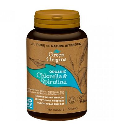 GR Chlorella&Spirulina BIO tabletki (180x500mg) GREEN ORIGINS