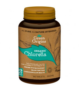 GR Chlorella BIO tabletki (180x500mg) GREEN ORIGINS