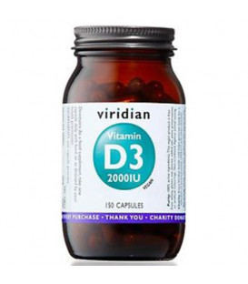 Witamina D3 2000IU (wegan 150 kapsułek) suplement diety Viridian