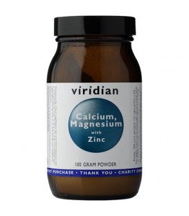 Wapń, magnez, cynk (100g) suplement diety Viridian