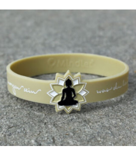 Mindlet Buddha bracelet, vanilla (chai tea / Regular)