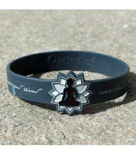 Mindlet Buddha bracelet, blue grey (Dark Blue / Regular)