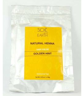 Naturalna Henna do włosów Indyjska ZŁOTY BLOND 100g Soil &Earth