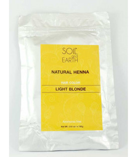 Naturalna Henna do włosów Indyjska JASNY BLOND 100g Soil &Earth