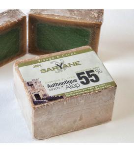 Tradycyjne mydło Aleppo 200g - 55% oleju laurowego, 45% oliwy z oliwek Saryane