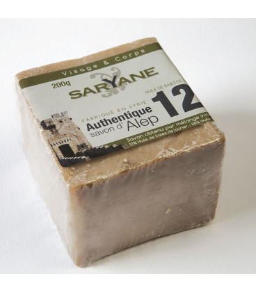 Tradycyjne mydło Aleppo 200g - 12% oleju laurowego, 88% oliwy z oliwek Saryane