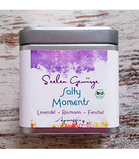 "Salty Moments ""Lavender-Rosemary-Fennel"" organic, 150 g Tinbox"
