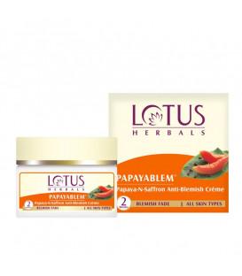 Krem do twarzy Przeciw przebarwieniom Papaja & Szafran 50g Lotus Herbals