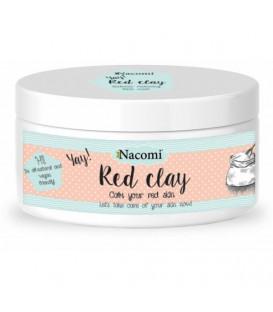 Glinka czerwona 100g Nacomi - cera naczynkowa