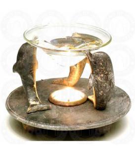 Lampa z kamienia do aromaterapii Trzy Delfiny