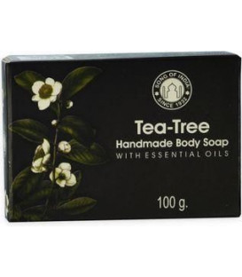 100 g. Tea Tree Handmade Glycerin Soap with Essential Oils in Black Box SOI100-TTR