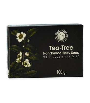 100 g. Tea Tree Handmade Glycerin Soap with Essential Oils in Black Box SOI100-TTR