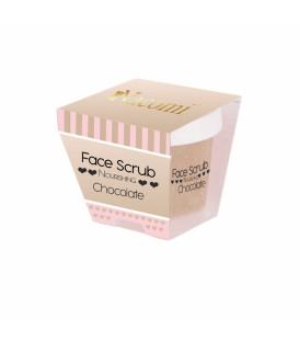Peeling do twarzy i ust - odżywczy, o zapachu czekolady NOWOŚĆ 80g Nacomi