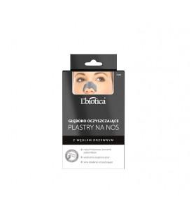 LBP L'biotica Plastry na nos  Głęboko oczyszczające pory  Charcoal  3szt