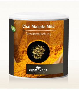 Masala Chai łagodna mieszkanka przypraw do indyjskiej herbaty  ORGANICZNA 80g Cosmoveda
