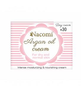 Krem arganowy 30+ na dzień z witaminą E  50 ml Nacomi