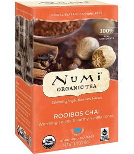 Organiczna herbata Rooibos Chai, Numi Tea, 18 torebek