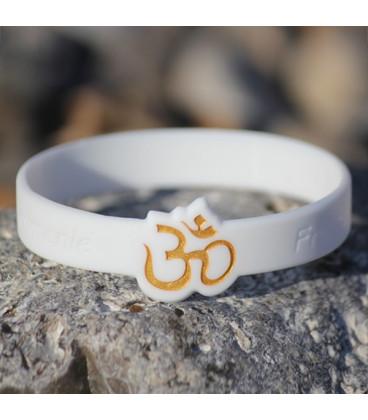 """Mindlet Yoga bracelet """"OM"""", white (white / Regular)"""