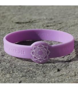 Bransoletka z harmonizującym symbolem Kwiatu Lotosu  w kolorze Fioletowym