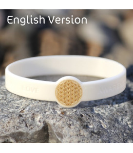 Mindlet Flower of Life bracelet, white (English) (white / Regular)