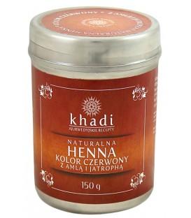 Naturalna Henna z Amlą i Jatrophą (Czerwień) 150g Khadi