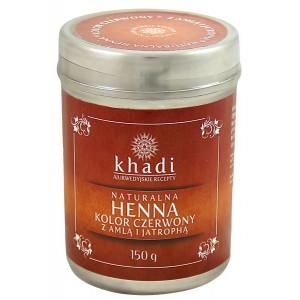 Naturalna Henna z Amlą i Jatrophą (Czerwień) 150g Khadi (21,30zł/100g + czepek i rękawiczki)