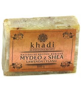 Naturalne Ręcznie Robione Mydło z Shea Lawenda i Ylang 100g Khadi