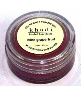 Naturalny Balsam do Ust Grejpfrutowy (z woskiem pszczelim i masłem shea) 10g Khadi